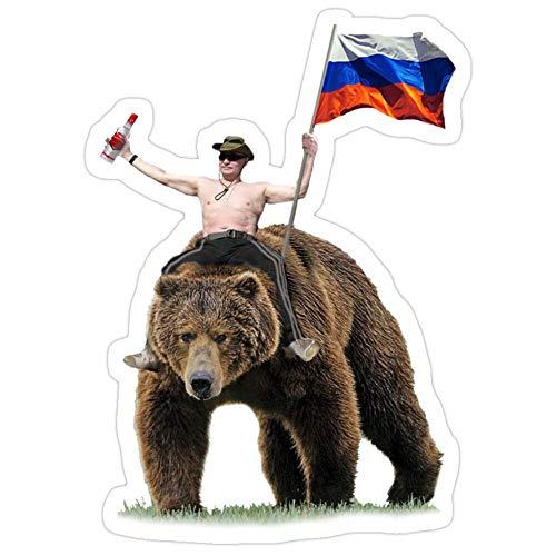 MrMint 4693973512555 Putin Wodka Bear Tracksuit Hardbass Aufkleber (3 Stück/Pack)