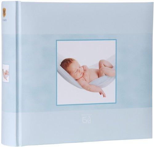 Quantio HENZO Einsteckalbum Eva Born 'Sweet Dreams' Blau - Baby Album - Babyfotoalbum für 200 Fotos 10 x 15 - Fotoalbum