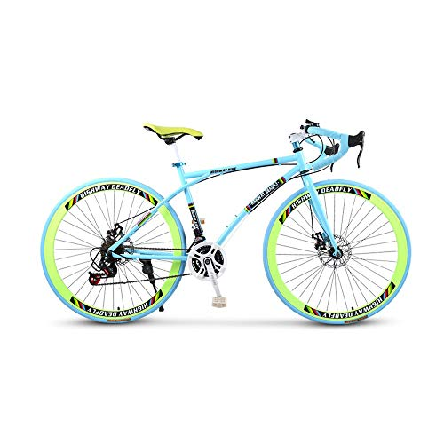 Buy Bargain LRHD Curved-Handle Variable Speed Road Racing Car Road Bicycle, 21-Speed 26 Inch Bikes, ...