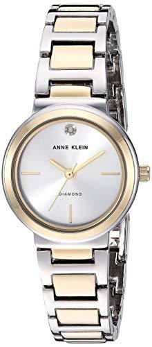 Anne Klein Women's Genuine Diamond Dial Two-Tone Bracelet Watch, AK/3529SVTT