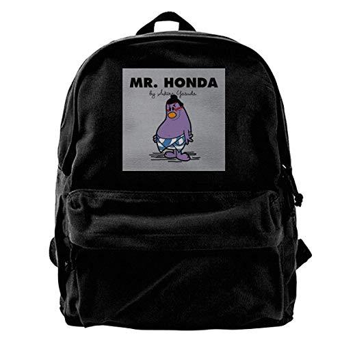 Daypacks Herr Ho-Nda Straßenkämpfer Herr Männer DIY Erwachsenen Anime College Dauerhafte Reise Tragbare Schultasche Schüler Leinwand Rucksack Drucken Rucksack Schule Schule