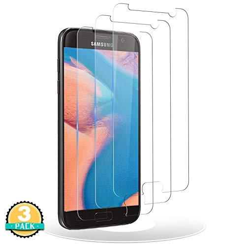 RIIMUHIR Panzerglas Schutzfolie Kompatibel mit Samsung Galaxy S7,[3 Stück] Galaxy S7 Displayschutzfolie,Anti-Kratzer, Anti-Öl, Ohne Bläschen, HD-Klar Panzerglasfolie für S7