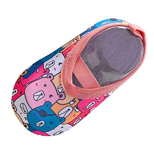 Baby Cartoon Floor Socks, Boys Girls Toddler Socks, Non-Slip Shoes Socks, Indoor Floor Footwear Barefoot Socks (Multicolor, S)
