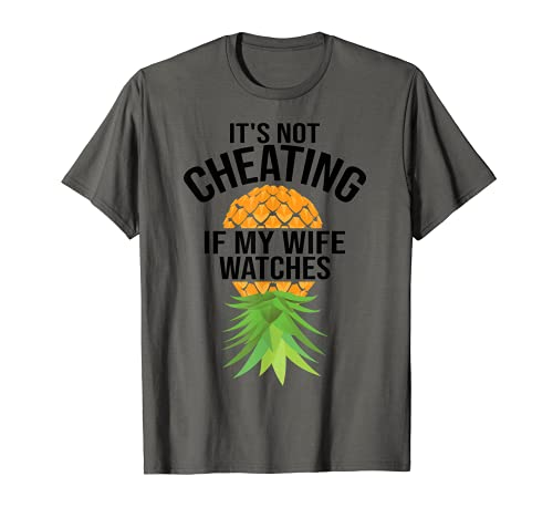 Funny It's Not Cheating If My Wife Relojes Regalo Hombres Maridos Camiseta