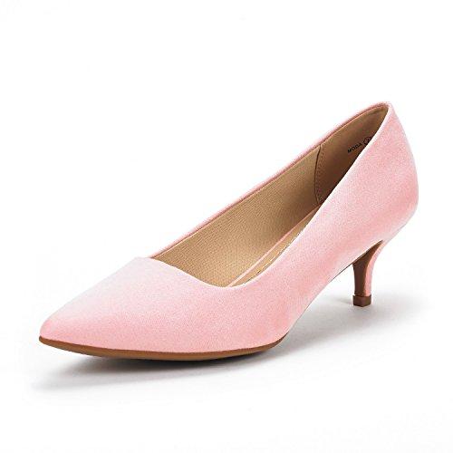 DREAM PAIRS Damen Spitz Pumps mit Heel Absatz Moda Pink Wildleder 40 EU/9 US