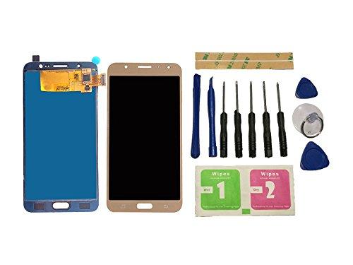 Flügel para Samsung Galaxy J7 2016 J710 J710F J710M J710H J710FN Pantalla LCD pantalla Oro Táctil digitalizador Asamblea Pantalla ( sin marco ) de Recambio & Herramientas