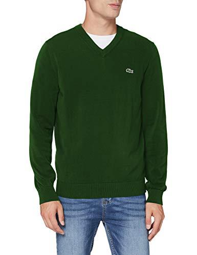 Lacoste AH1951 Suéter, Verde (Rouge/Farine-Amaryllis), XL para Hombre