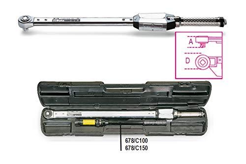 Beta Tools 678/C100 678/C100-Schlüssel Drehmomentschlüssel Ratsche Einfache Genauigkeit ± 4% in Kassette