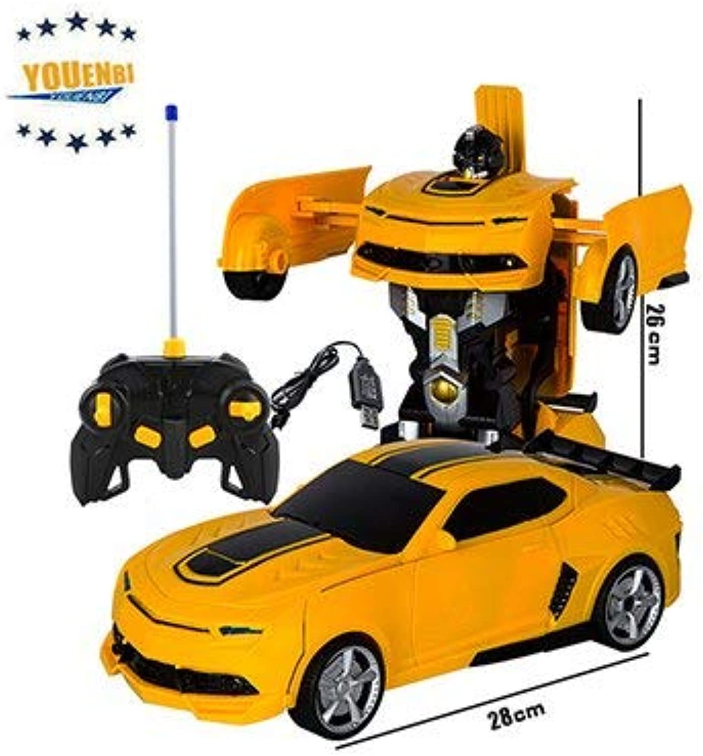 Generic Remote Control Car with Light and Sound Radio Control Toys for Kids 1 14 Gesture Sensor Robot Toys rc Car Yellow