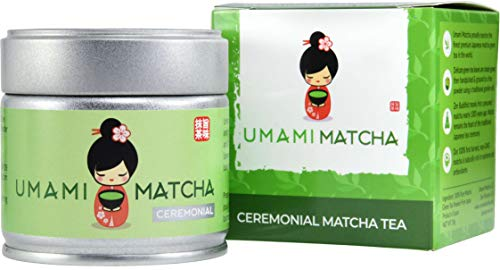 UMAMI MATCHA | Ceremonial Matcha Green Tea Powder | Authentic Premium Grade Japanese Matcha Tea | Pure 1st Harvest | 100% All Natural From Japan (1oz/30g tin)