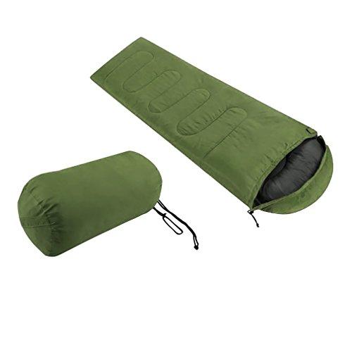 Civigroupey Schlafsack, Ultraleicht Klein Warm Mumienschlafsack 3 Saison Frühling, Sommer und Herbst Hüttenschlafsack für Outdoor Camping Wandern Trekking (Armee grün)
