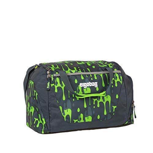 ergobag Sporttasche GlibbBär, wasserdichtes Seitenfach, Tragegriffe und Umhängegurt, 20 Liter, 500 g, Slime