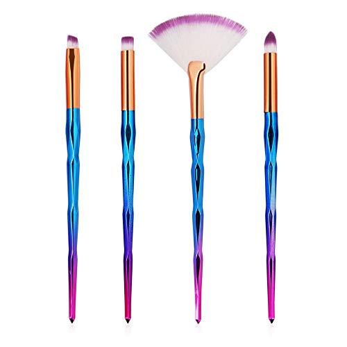 MEISINI Makeup Brushes Set Foundation Eyeshadow Contour Concealer Blush Cosmetic Make Up Tools, 4Pcs