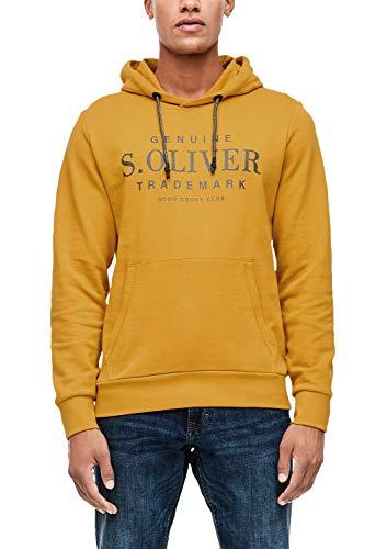 s.Oliver Herren 13.909.41.5228 Sweatshirt, Gelb (Sunny Morning 1549), Large (Herstellergröße: XL)