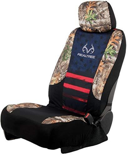 Realtree Camo Seat Cover Low Back Edge Americana (Single)