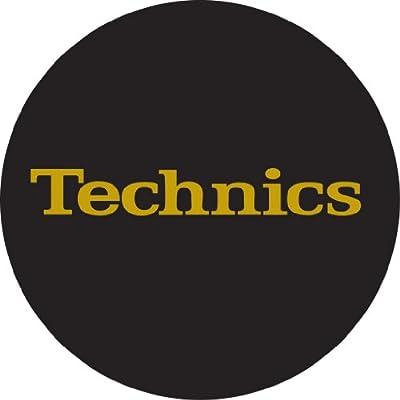 Technics DMC Turntable Slipmats (1 Pair) - Black/Gold