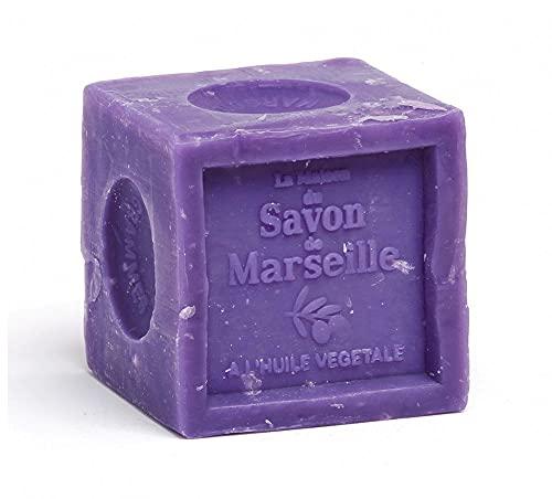 Savon de Marseille - Bloc de savon à la lavande - 72 % d'huile végétale - Savon végétalien - 300 g