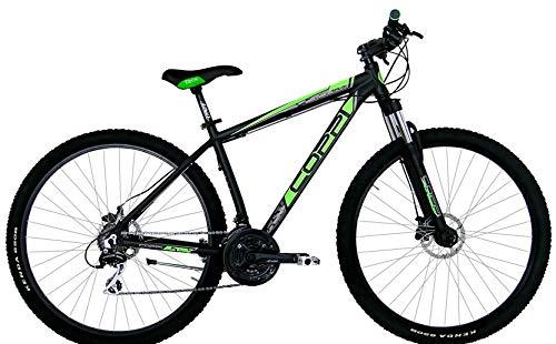 Coppi 27.5 Zoll Mountainbike MTB Spark Scheibenbremsen 21 Gänge Schwarz-Grün 46 cm Rahmengröße