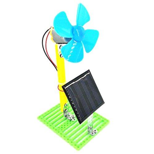 clasificación y comparación Un modelo de juguete que funciona con energía solar de un ventilador con un circuito físico … para casa
