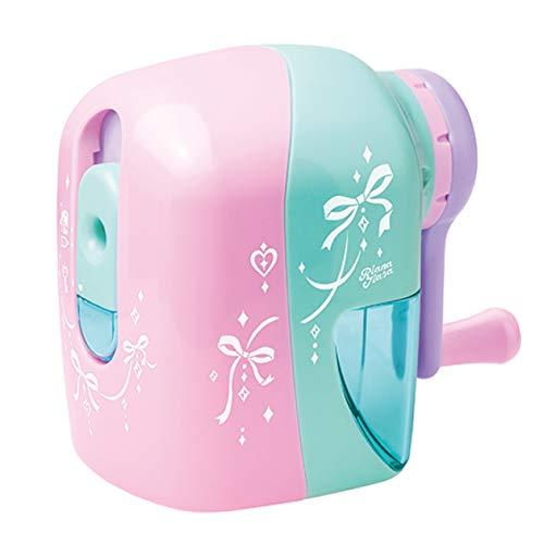 鉛筆削り 手動 女の子 男の子 かわいいおしゃれトガリターンムダ削り防止 (ピンク) (0017-pink)