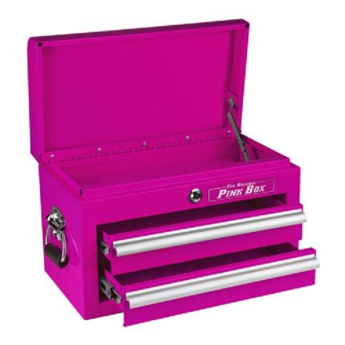 Hot Sale The Original Pink Box PB218MC 18-Inch 2-Drawer 18G Steel Mini Storage Chest, Pink