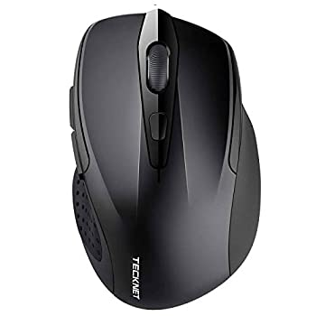 TeckNet 2600DPI Bluetooth Wireless Mouse 12 Months Battery Life with Battery Indicator 2600/2000/1600/1200/800DPI  Black