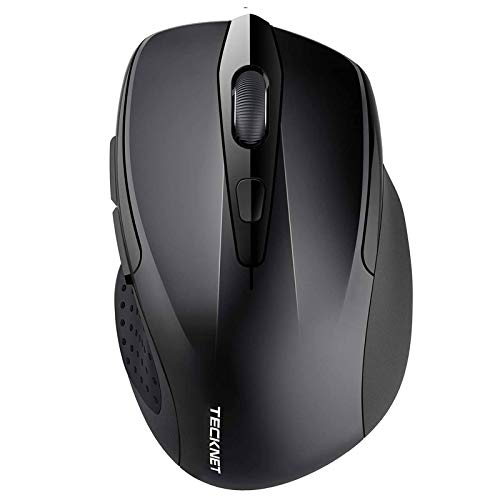 TECKNET Bluetooth Maus, Kompakte Wireless Kabellose Bluetooth Mouse, 5 verstellbare DPI Level, bis zu 2600 DPI, 24 Monate Batterielaufzeit