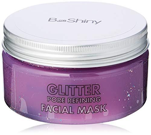 BeShiny Peel off mascarilla con brillo para el tratamiento facial antiarrugas antiarrugas, minimizador de poros, tratamiento para cicatrices del acné y removedor de espinillas 220 g