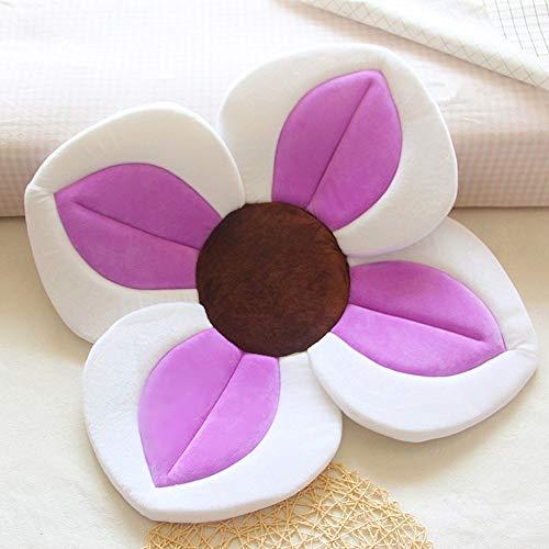 TRER babybadmat vierbladige bloemblaadbadmat wastafel met bloemenbadmat en comfortabele badmat voor pasgeborenen paars