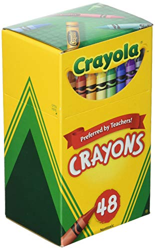 Crayola upc 52-0048 Crayons Assorted Colors 48 Count, Pack of 3