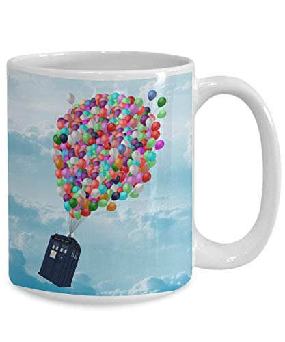 Lplpol Up Policebox Doctor Who Tasse Geschenk – Dr Who Tardis Kaffeetasse Geschenk – Time Lord Whovian Geschenk, weiß, 11 OZ