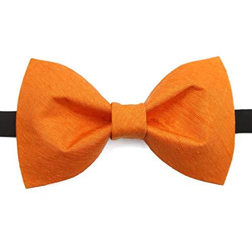 Tie Freizeit Herren Krawatte Klassische Smoking Seide handgefertigte orange Hochzeit Fliege einstellbar