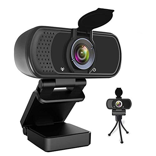 HDZIYU N5 Webcam with Microphone, 1080P HD Web Cameras for Computers Laptop MAC, USB Camera for Video Conference Video Calls Streaming
