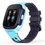 Orologio Impermeabile Smart Watches Smartwatch per Uomo Watch GPS Posizionamento GPS Chiamata Impermeabile Orologio Multifunzionale con videochiamata, Un Must-Have per i Regali delle Vacanze,Blu