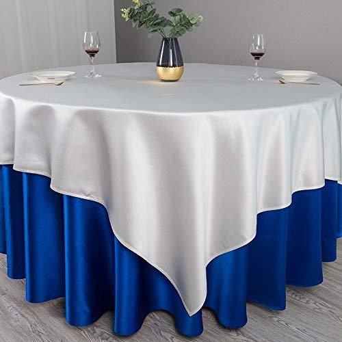 PhantasyIsland.com Mantel Rectangular de Lino y algodón, Resistente a la Suciedad, a Rayas, para decoración de Mesa de Comedor o Cocina, 340CM