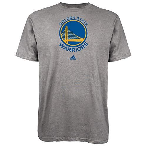 Adidas Golden State Warriors - Maglietta con logo Primary, Grigio, XL
