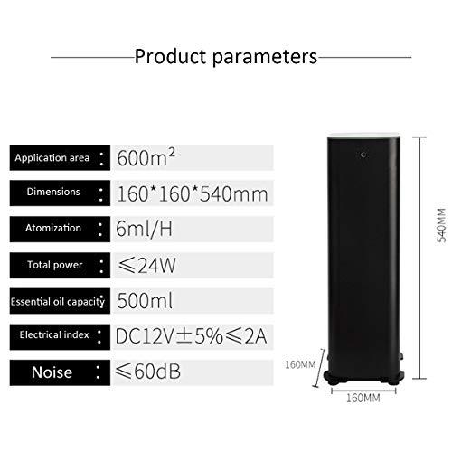Shhjpy diffusers voor etherische oliën, met led-display, luchtbevochtiger met nano-vernevelingstechnologie, diffuser voor aromatherapie, diffuser 600 m2