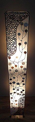 Unusual Shell Coin Tree & Bamboo Slice Floor Lamp Hand Made Bali 1.5 mtr Floor Lamp