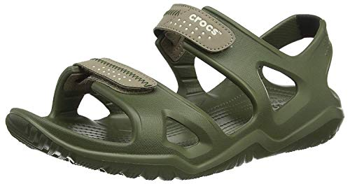 crocs Herren Swiftwater River M Sandalen, Grün (Army Green/Khaki 354), 48/49 EU