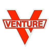 ベンチャー (Venture) BAR DIECUT (ORANGE) MID ステッカー スケートボード スケボー デカール ロゴ シール