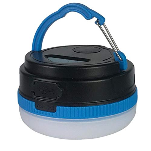NiceJoy Tienda de campaña Enciende la lámpara Led Luces de la lámpara USB portátil Recargable magnética Mini para Acampar al Aire Libre la Noche Las Luces Azul