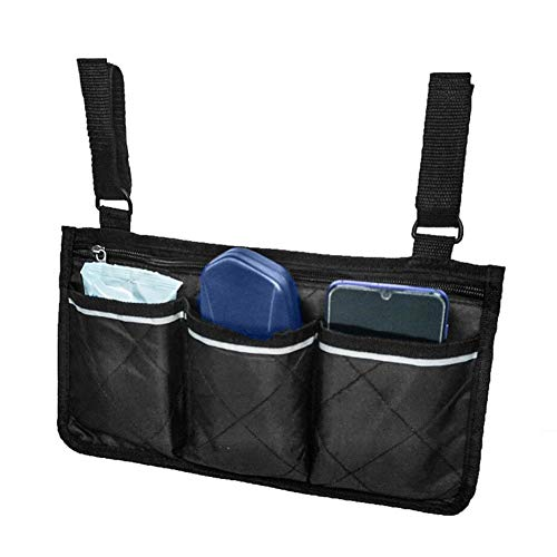Hemistin Bolsa Lateral para Silla de Ruedas con Bolsas: Ideal para sillas de Ruedas eléctricas, Scooter eléctrico, Accesorios de Andador, Otros Dispositivos de Movilidad: Bolsa de Enfermera Beautiful