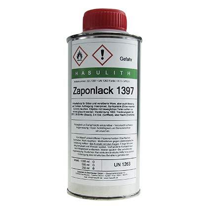 Zaponlack – Der bessere Schutz für SILBEROBERFLÄCHEN – Auch für Messing, Tombak, Zinn und andere Buntmetalle geeignet – Glänzender Klarlack auf Lösungsmittelbasis – Trocknet schnell – 250 ml – C326111
