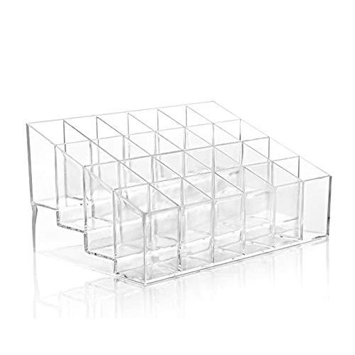 Transparent 24 grid acrylic makeup storage box lipstick stand display stand box cosmetics nail polish makeup storage box tool