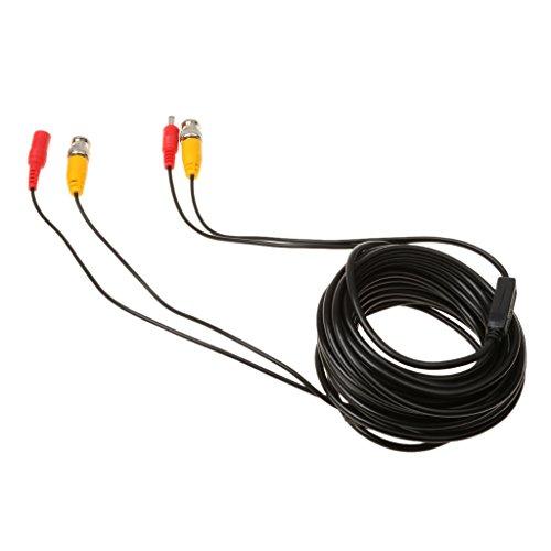 prasku Cable de Alimentación Y Vídeo BNC Todo en para Sistema de Vigilancia - Negro 20m
