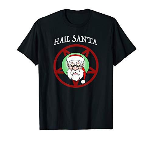 Funny Christmas Hail Santa Holiday T-Shirt