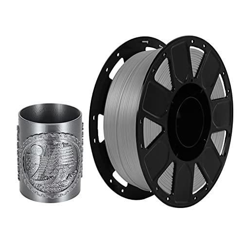 Funien 1.75 Pla Filament,Creality Ender 3D Printer PLA Filament 1.75mm 1kg/2.2lbs Filament Dimensional Accuracy +/- 0.02 mm, Grey