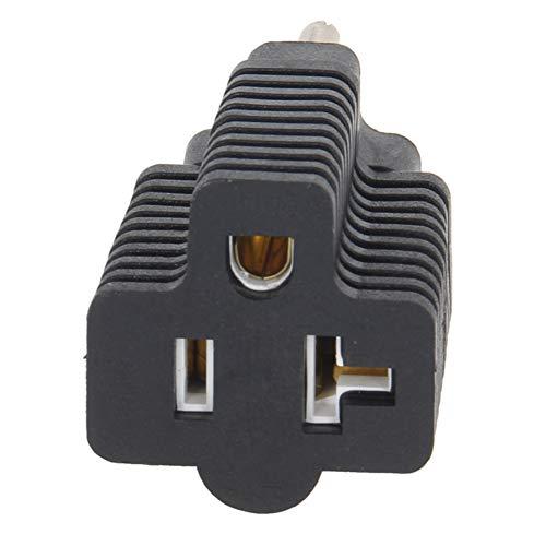 Fielect AC110-250V 15A US NEMA 5-15P Plug to US NEMA 5-20R Socket AC Power Adapter Converter 2PCS