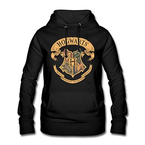 Harry Potter Hogwarts Wappen Frauen Hoodie, S (36), Schwarz