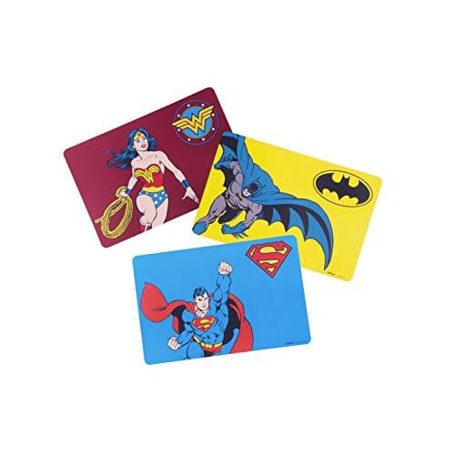 Excelsa Supereroi Set 6 Tovagliette Colazione, Polipropilene, Multicolore, 44 x 29 cm, 6 unità